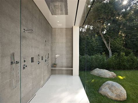 bathroom shots the stunning glass pavilion by architect steve hermann