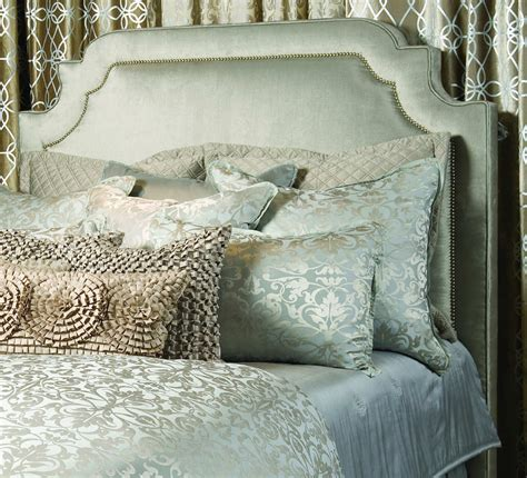 Silver Padded Headboard by Lili Alessandra Upholstered Bed Headboards