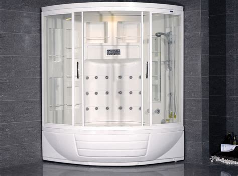 whirlpool bathtub shower combo ameristeam zaa216 steam shower unit with whirlpool bathtub