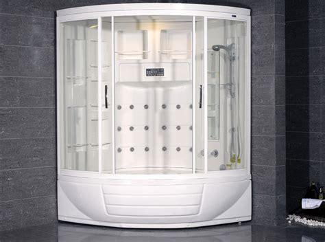 bathtub shower combination units ameristeam zaa216 steam shower unit with whirlpool bathtub