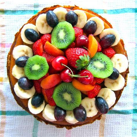 obst anrichten cheesecake mit obst