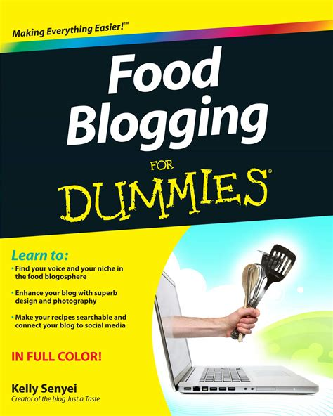 for dummies template book cover food blogging for dummies giveaway rach reads reviews