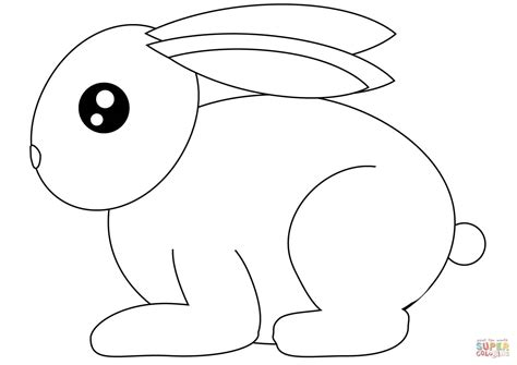 rabbit coloring page small rabbit coloring page free printable coloring pages