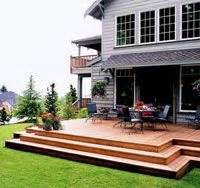 decks without railings multiple level pine deck wood decks photo gallery archadeck of