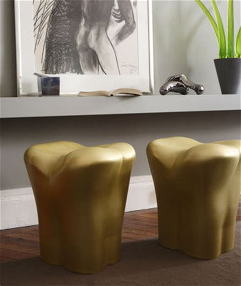 Tabouret Xo by Tabouret The Tooth Plastique Argent Xo