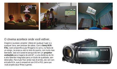 Handycam Sony Projector Pj6 filmadora sony standard definition dcr pj6 preta lcd de 2 7 zoom 211 ptico 70x estabilizador