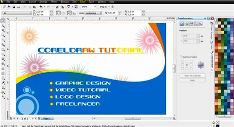 Visiting Card Template Coreldraw by Visiting Card Design Sle In Coreldraw Transitionsfv
