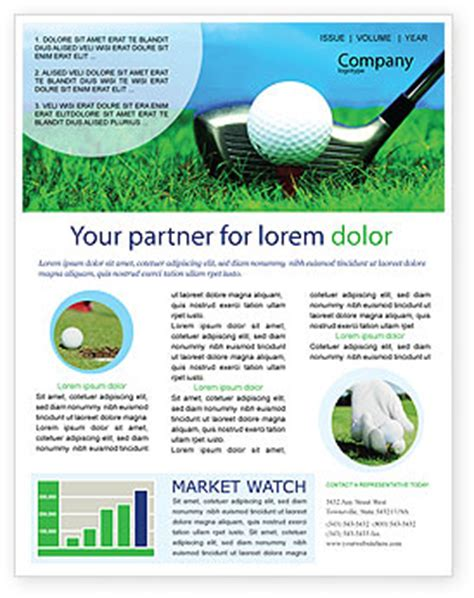 Golf Newsletter Templates Golf Newsletter Template For Microsoft Word Adobe Indesign 01768 Download Now