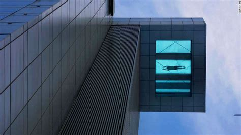 glass bottom pool l a skyscraper to get a glass slide cnn com