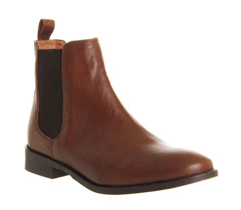 womans chelsea boots womens office bramble chelsea boots brown leather boots ebay