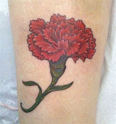 january birth flower tattoo carnation january birth flower ideas for my