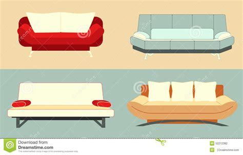 colorful sofa set set of flat colorful sofas stock vector image 52212382