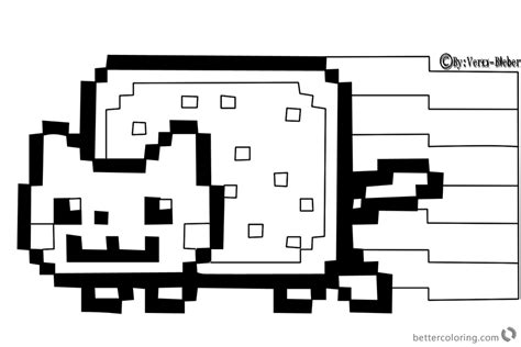 nyan cat coloring pages nyan cat coloring pages by vero bieber free printable