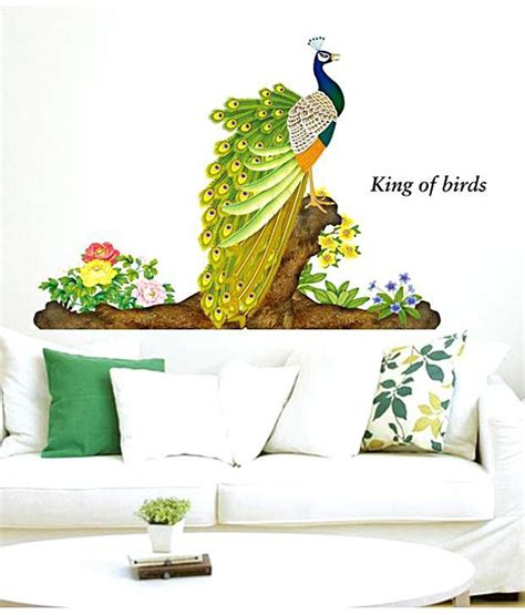 Snapdeal Home Decor by Wow Interior 3d Peacock Wall Sticker Buy Wow Interior 3d
