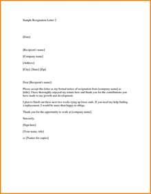 professional resignation letter formatpdf