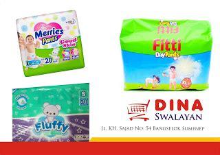 Harga Diapers Merk Merries daftar harga popok bayi fluffy fitti dan merries dina