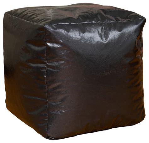 Bean Bag Chair And Ottoman Black Vinyl Bean Bag Cube Ottoman Modern Bean Bag Chairs By Michael Anthony Furniture