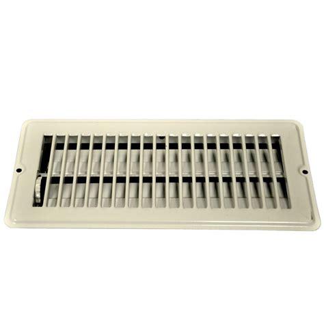 danco 4 in x 10 in steel floor register with 7 8 in