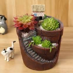 plant pots terracotta strong quality plastic cactus house resin flowerpot mini hanging garden maceteros succulent