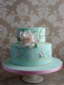 vintage rose and lace 80th birthday cake cake by suzanne