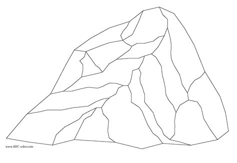 Rocks Coloring Pages rock coloring granite