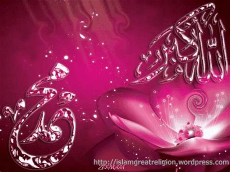 quran wallpaper pink allah akbar muhammad pbuh in pink your title