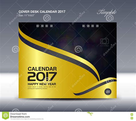 desk calendar for 2017 year cover desk calendar template