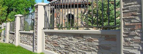 Victorian Home Design Elements by Iron Accents Stonetree Concrete Fence Wall Systems