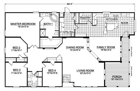palm harbor floor plans americana ccw467a7 home floor plan manufactured and or