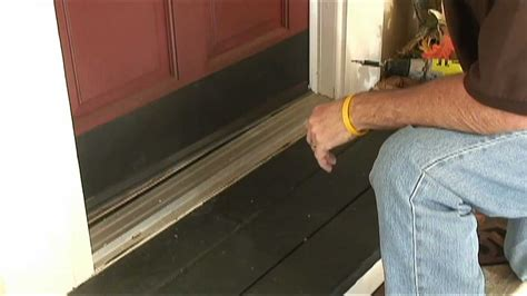 How To Weather Strip Doors Using A Doorsweep Youtube Weather Stripping Exterior Doors