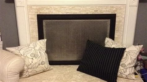 diy decorative fireplace screen drop a perforated