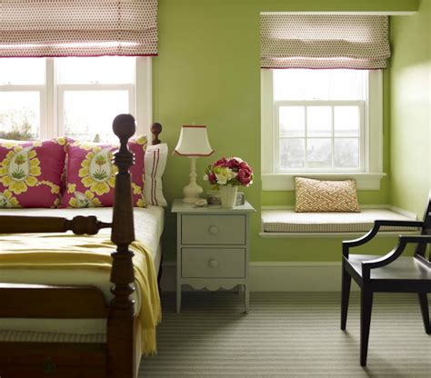 pink and green walls in a bedroom ideas girl s room window seat traditional girl s room