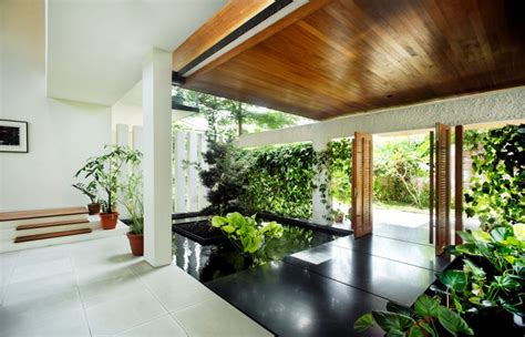 House Design With Interior Garden Breezy Rattan House By Guz Architects That Brings Its