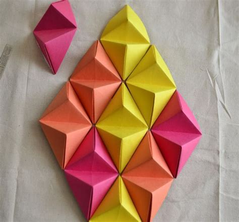How To Make Paper Sculptures At Home - add dimension and color to your home with 3d wall