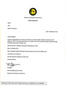 Invitation Letter To The Sle Invitation Letters Writing Professional Letters