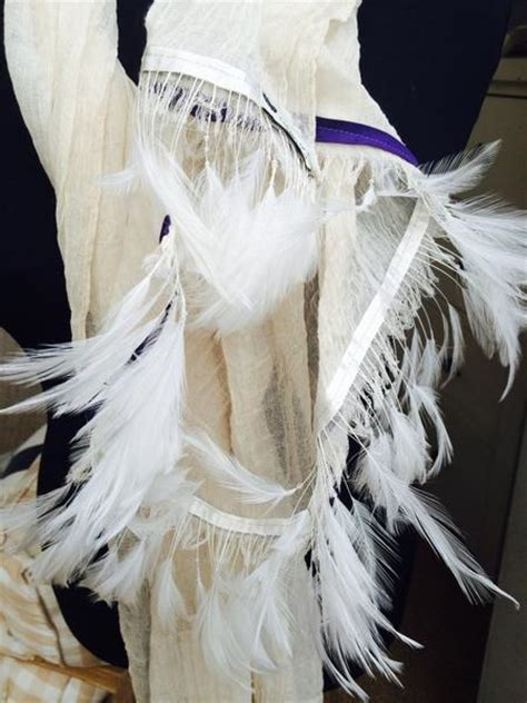 Feather Scarf In Violet With Box Exclusive ostrich feather scarf with purple trim feathers of italy