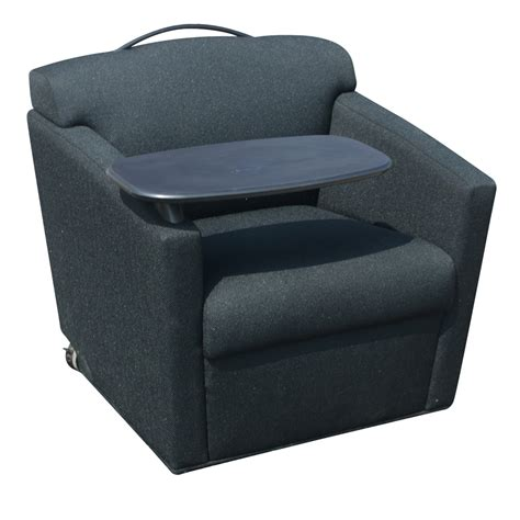 lounge chair with desk brayton international black club chair with tray ebay