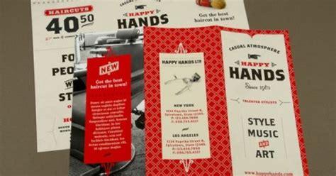 30 contoh desain brosur lipat tiga 30 trifold brochure 30 contoh desain brosur lipat tiga 25 retro barbershop