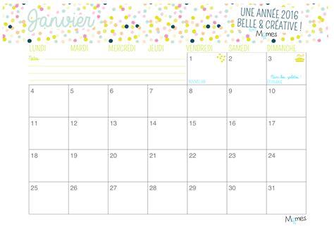 Calendrier 2018 Mensuel à Imprimer Calendrier Mensuel 2016 224 Imprimer Par Momes Momes Net