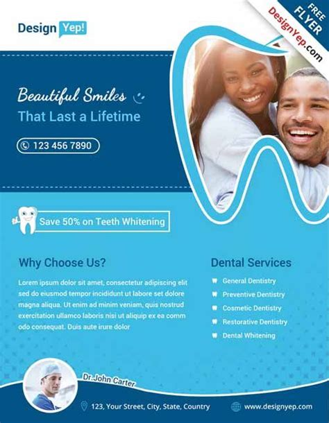 Dental Free Flyer Psd Template Orohc Pinterest Psd Templates Dental And Flyer Template Free Dental Templates