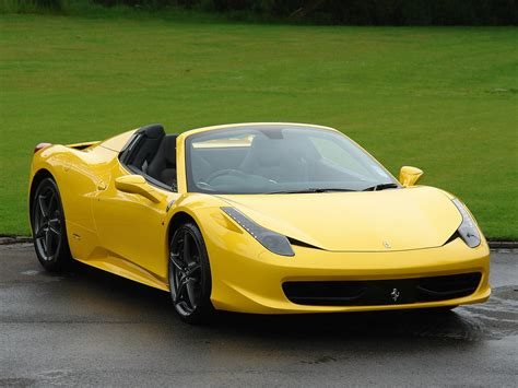 Ferrari 458 Spider Yellow by Current Inventory Tom Hartley