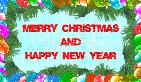 merry christmas  happy  year stock illustration image