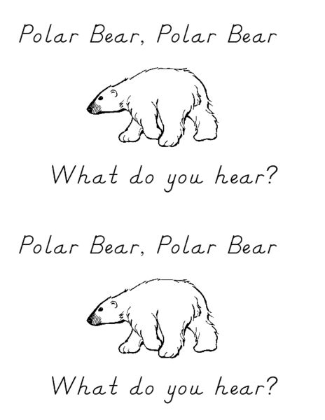 Polar Polar What Do You Hear Coloring Pages polar polar what do you hear coloring pages coloring pages