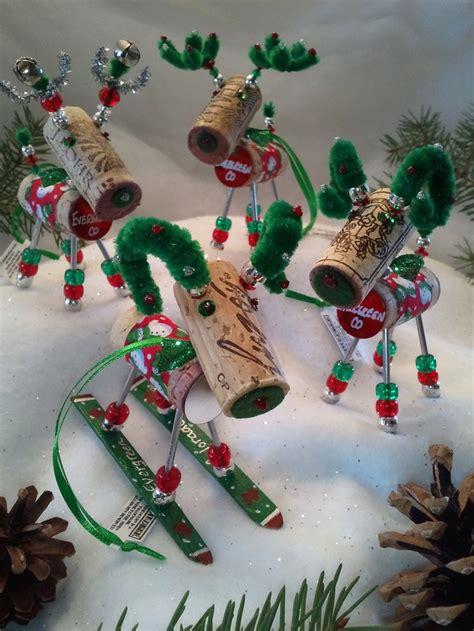 wine cork xmas crafts fir children 12 craft ideas for cork reindeer ornaments
