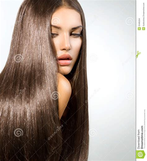 models with stright hair long healthy straight hair stock images image 33485264