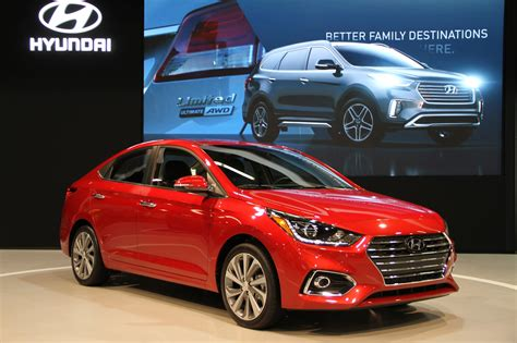 hyundai accent new model oc auto show debuts new hyundai accent nissan leaf and