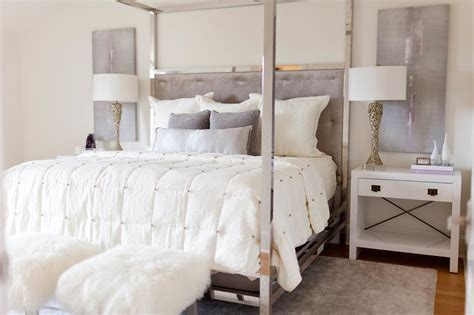white canopy beds white and purple bedroom with nickel canopy bed contemporary bedroom