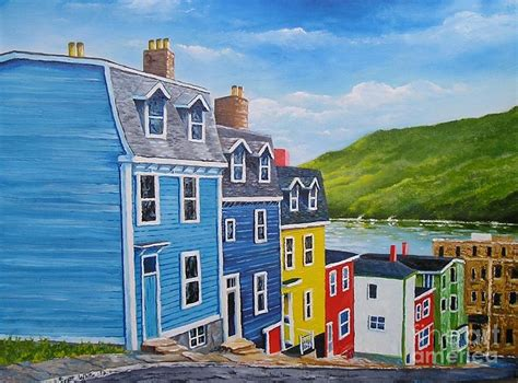 House Plans Nl by Famous Row Houses St John S N L Painting By Scott White