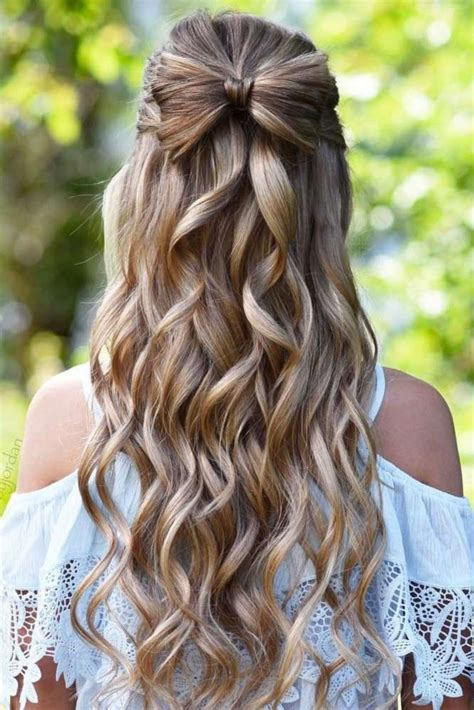 homecoming hairstyles half up half down how to do half up half down prom hairstyles hair