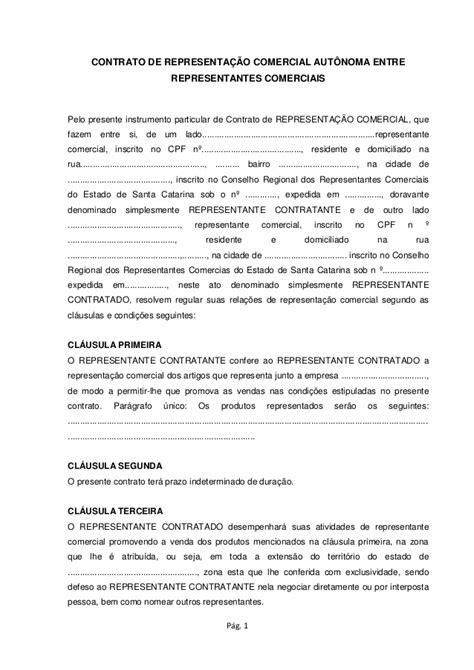 contratos modelo contrato de representante comercial word2007